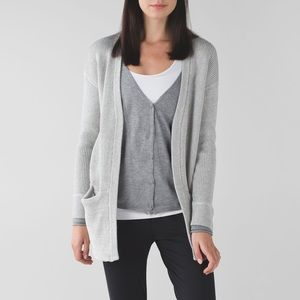 Lululemon Size 2 Cardigan Vestigan Heathered Gray